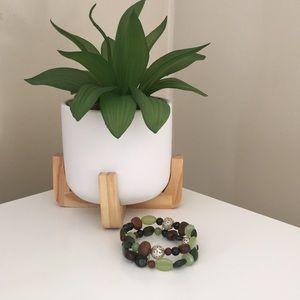Double banded bead bracelet